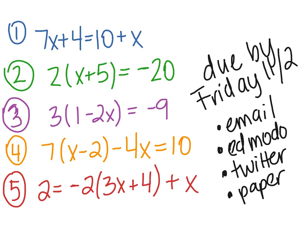 Multi Step Equations Worksheet 8th Grade