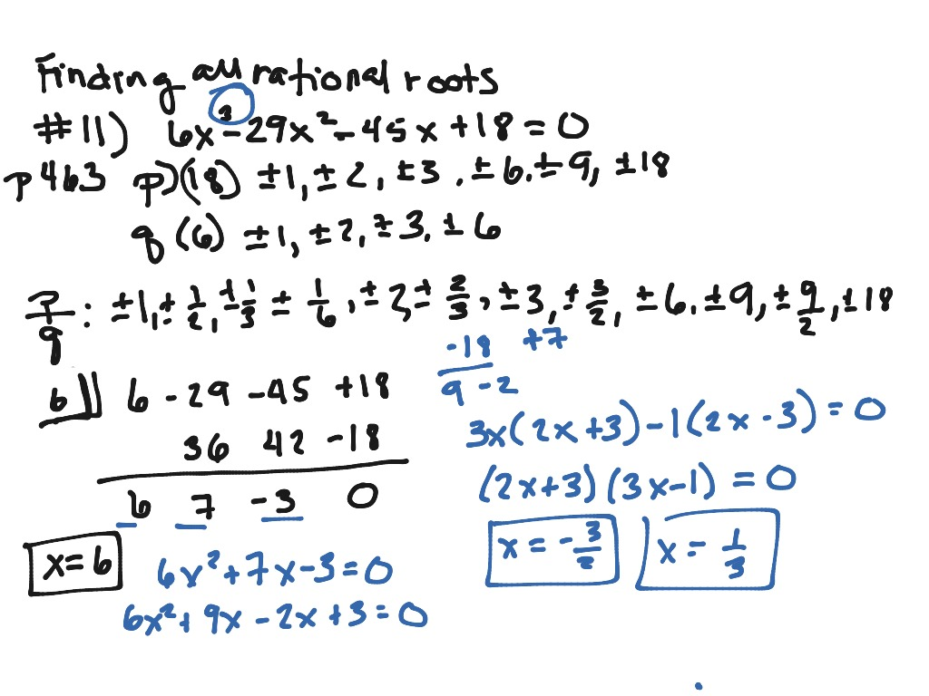 Finding Rational Roots Zeros With P S And Q S