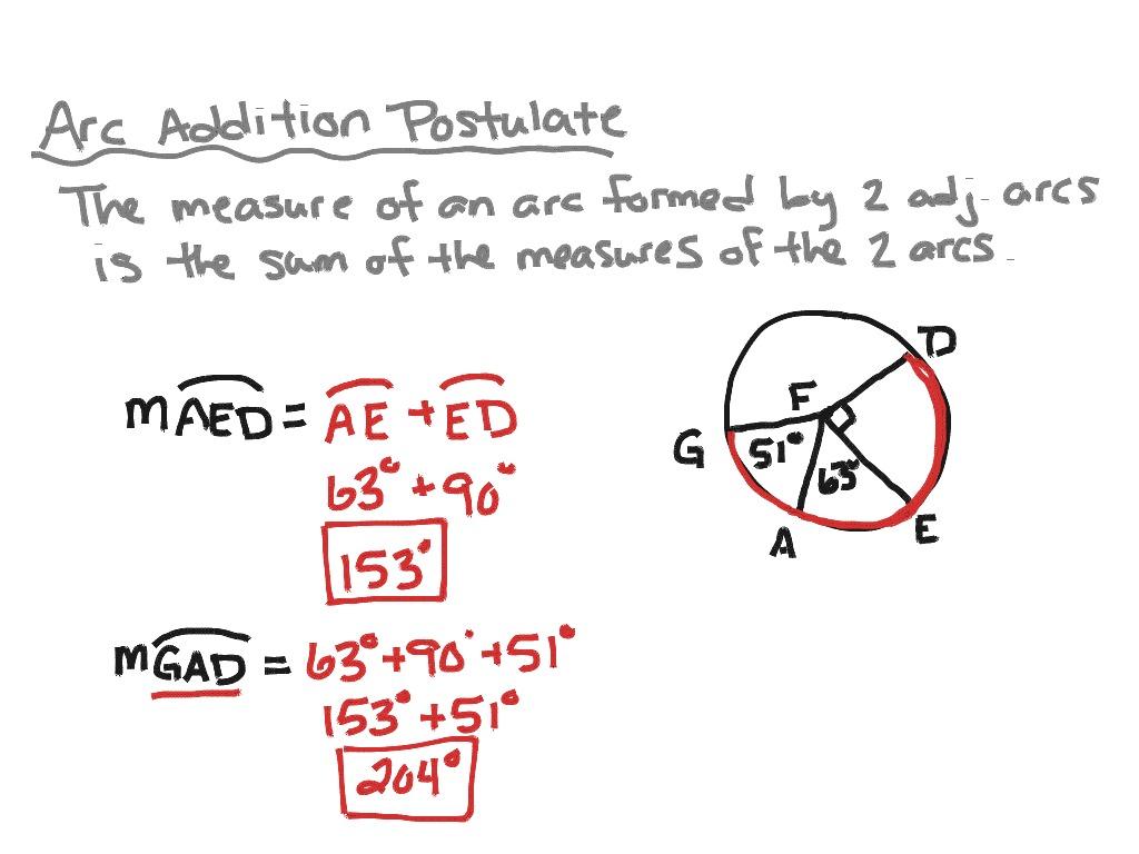 Measuring Angles And Arcs