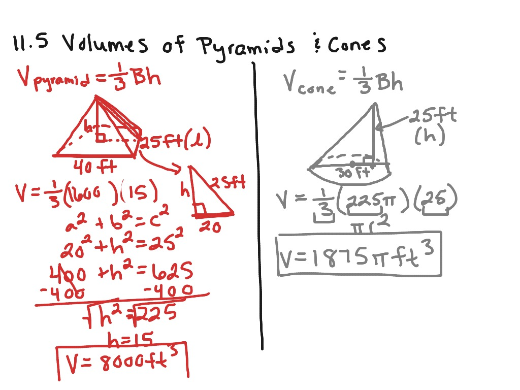 32 Surface Area And Volume Of Pyramids And Cones Worksheet