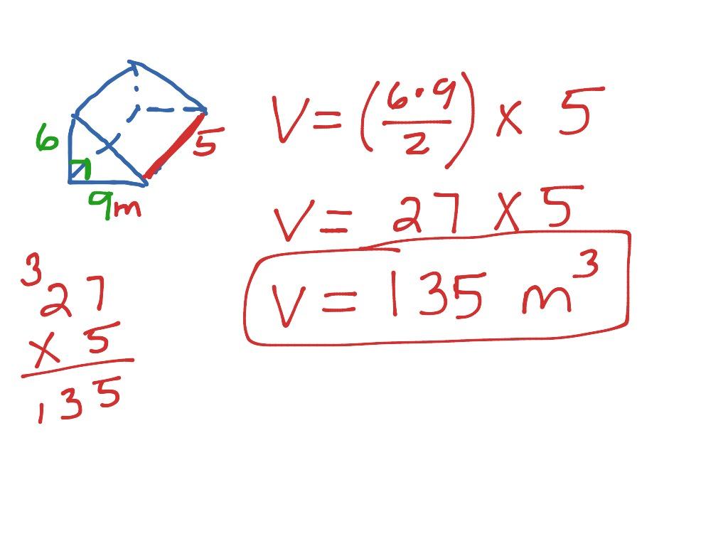 Volume Of Cubes Rectangular Prisms And Triangular Prisms