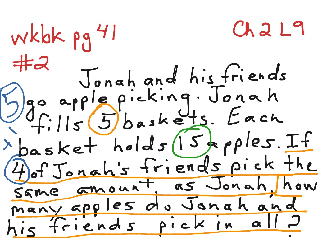 Ch2 Lesson 9 Multi Step Word Problems Multiplication