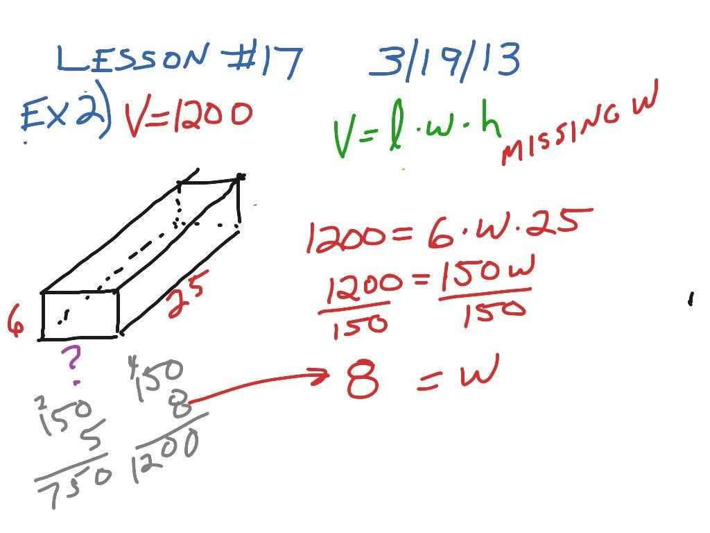 Rectangular Prism Missing Value 2