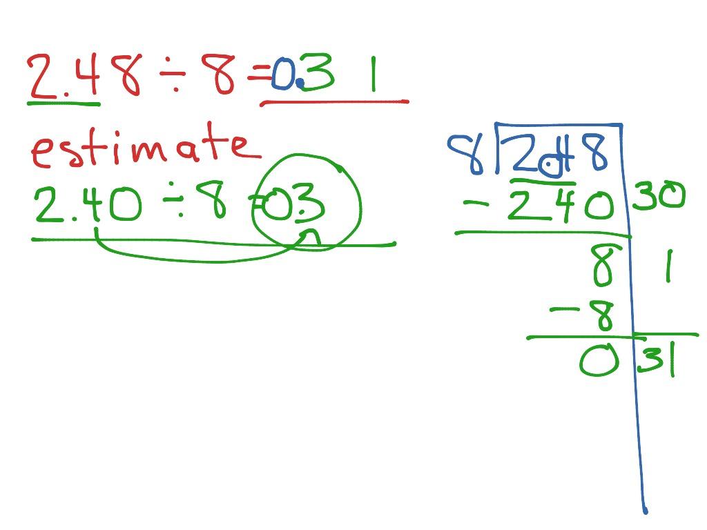 Partial Quotient With Decimals