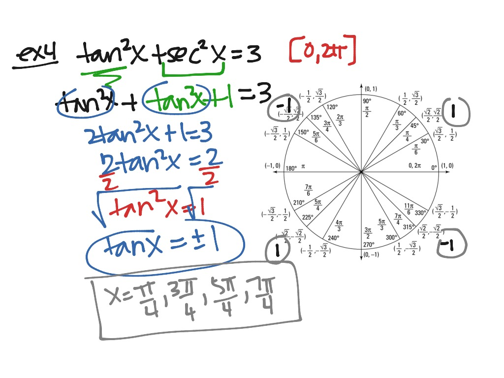 Algtrig Section 14 6 Solving Trig Equations Using