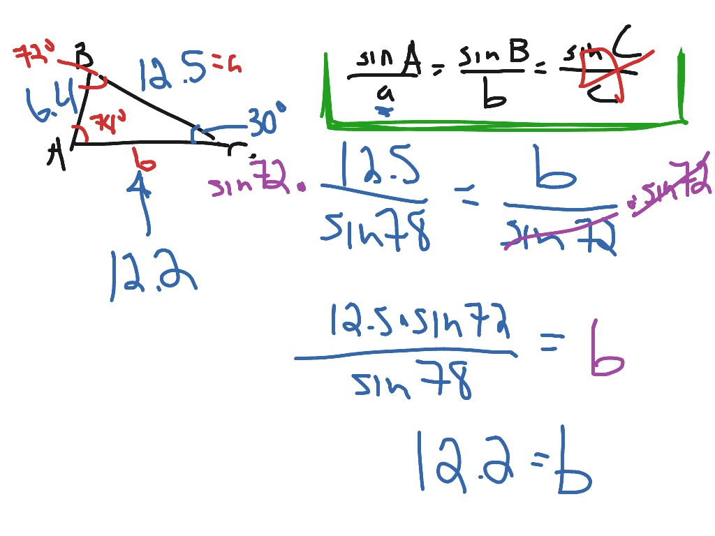 Using The Law Of Sines To Solve An Oblique Triangle