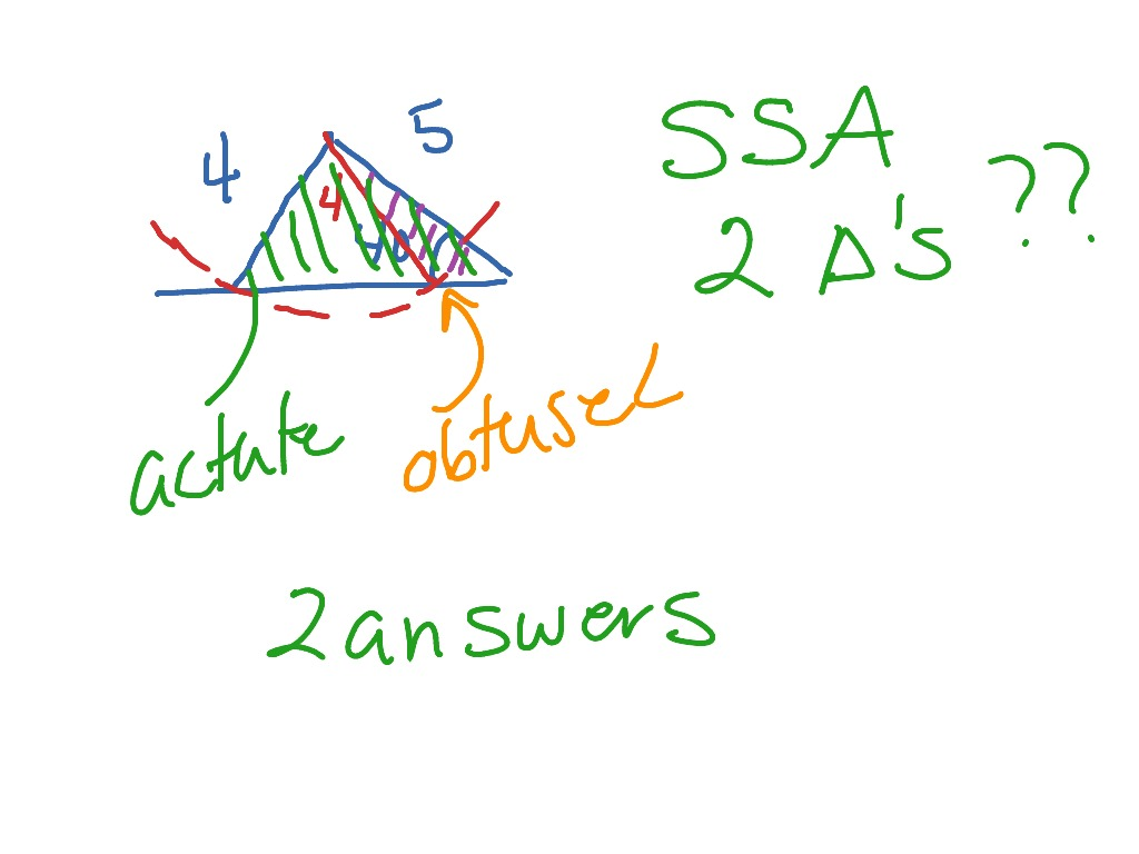 Triangle Congruence When Can You Use The Law Of Sines