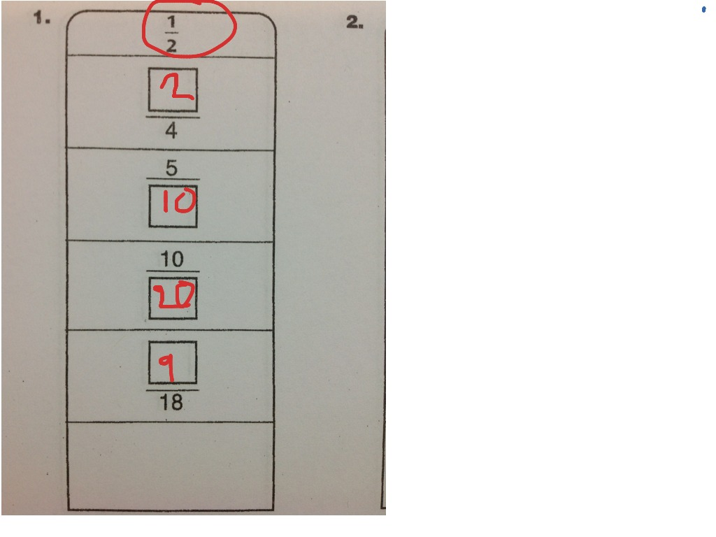 Fraction Name Collection Boxes Unit 7 Lesson 7 7
