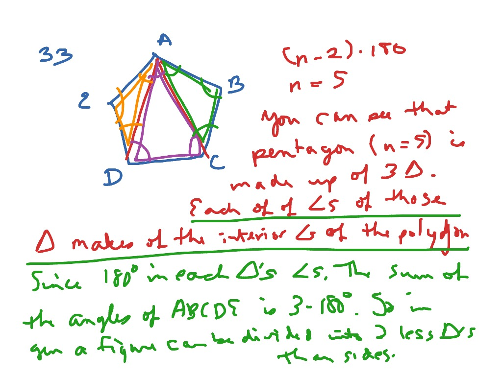 Prove Polygon Interior Angle Sum Theorem 8 1 33