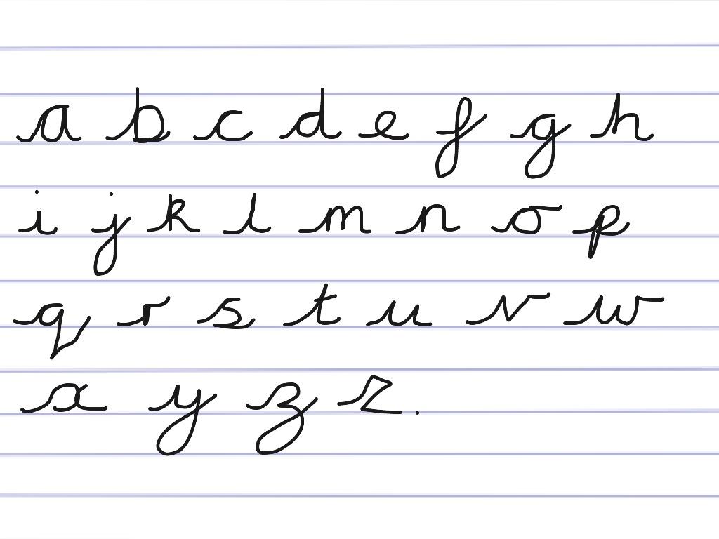 Worksheets Writing Alphabet Cursive