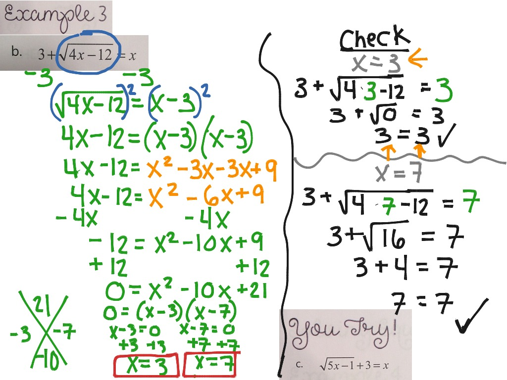 How To Solve A Square Root Problem Solving Square Roots