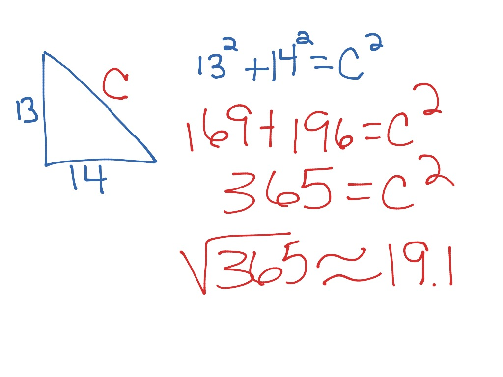 Pythagorean Theorem Missing Hypotenuse Worksheet