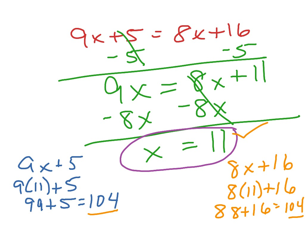Solving Equation W Variable On Both Sides