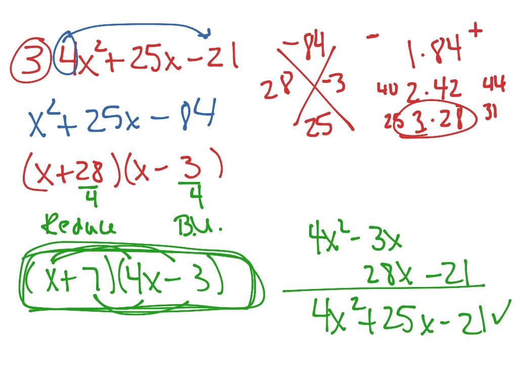 Factoring Slide Method