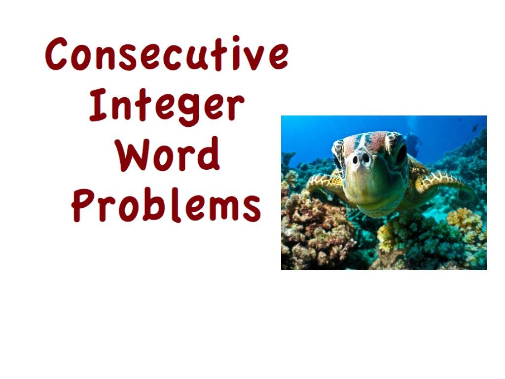 C Secutive Teger W D Problems M Th Lgebr Lv G