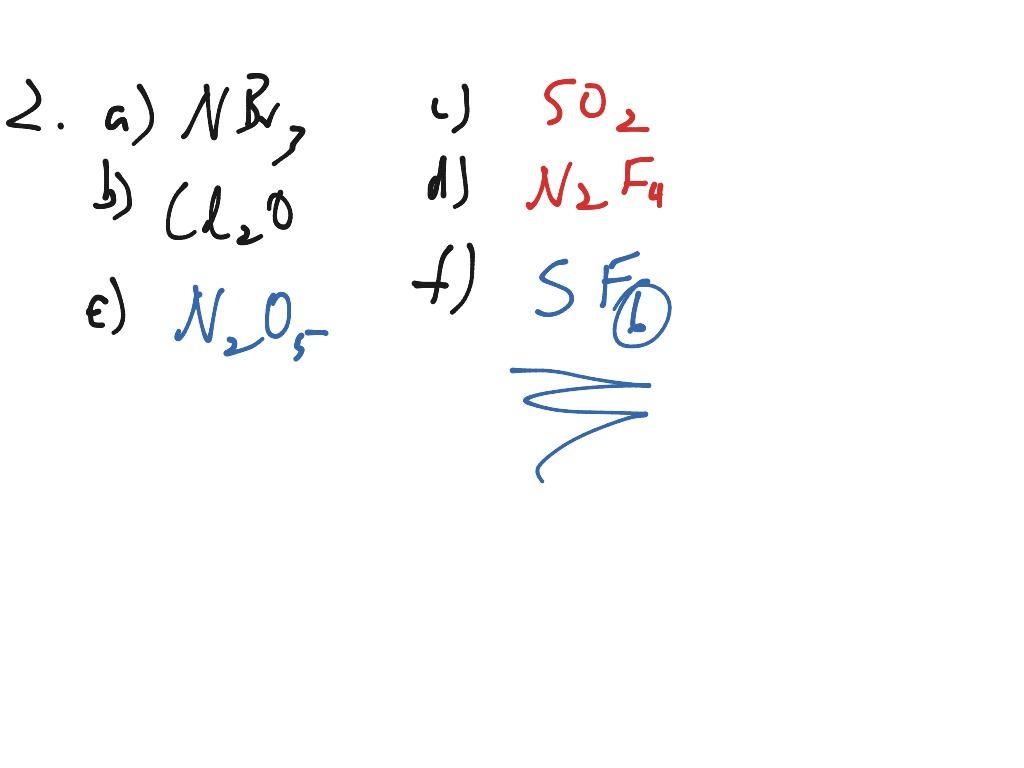 Covalent Bonding Worksheet Solutions
