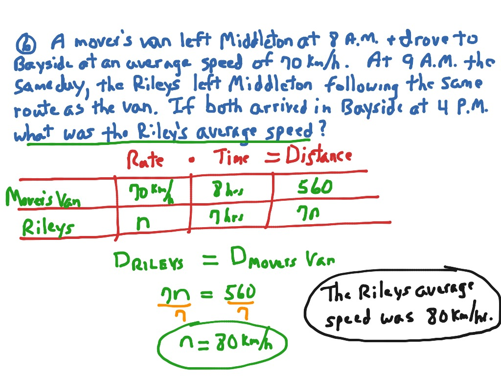 Distance Word Problems Pp 144 145 4 5 6