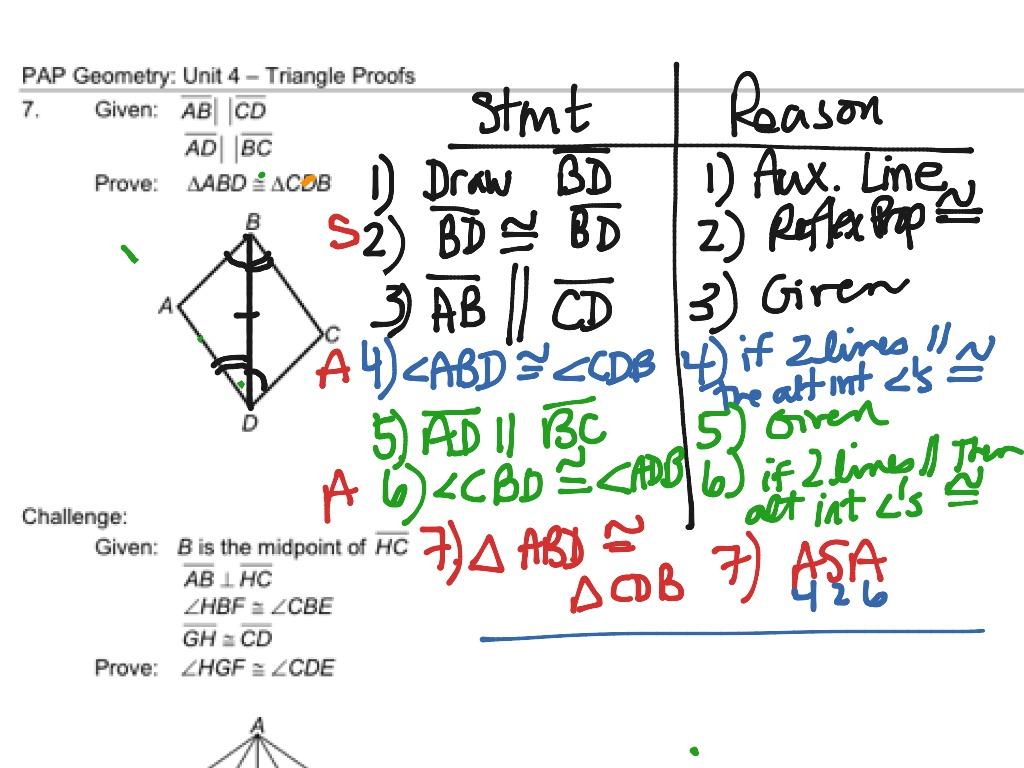 Angle Proof Geometry Worksheet