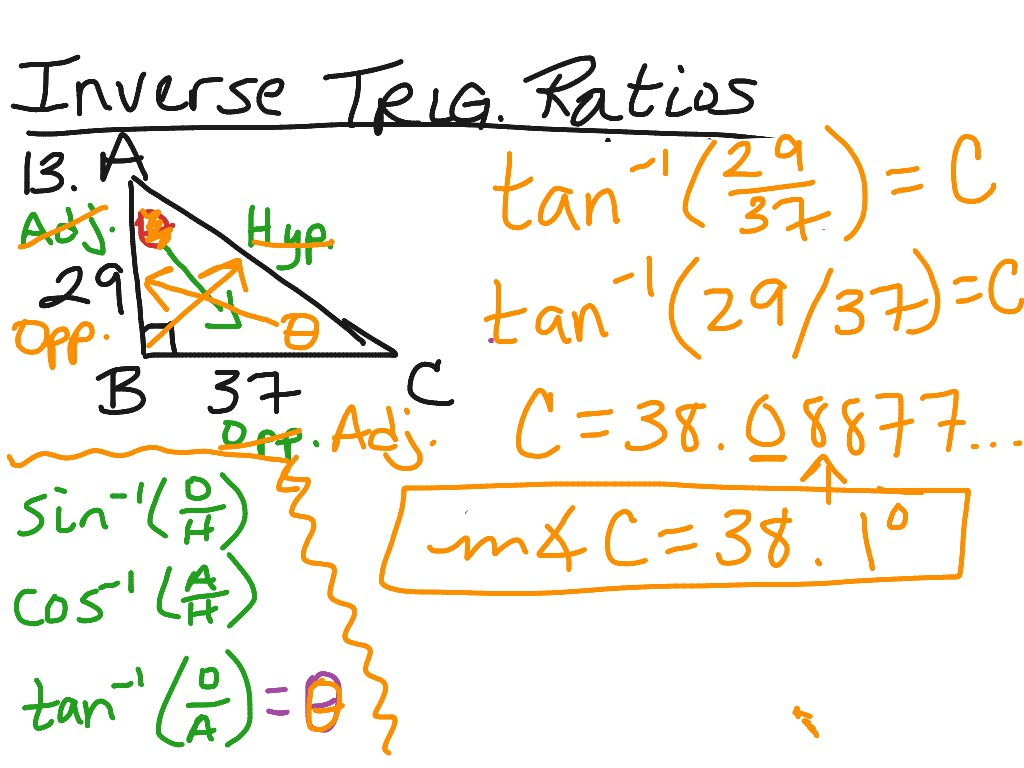 Worksheet Inverse Trigonometric Ratios Worksheet Fun Worksheet Study Site