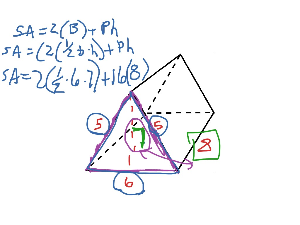 Triangular Prism Surface Area