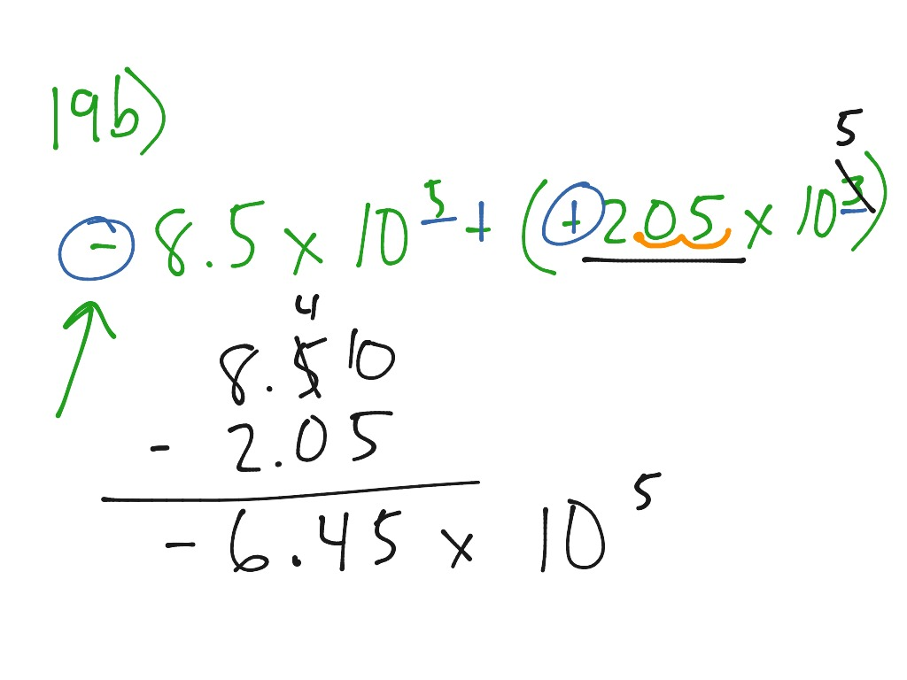 Add Subtract Mult Div Scientific Notation