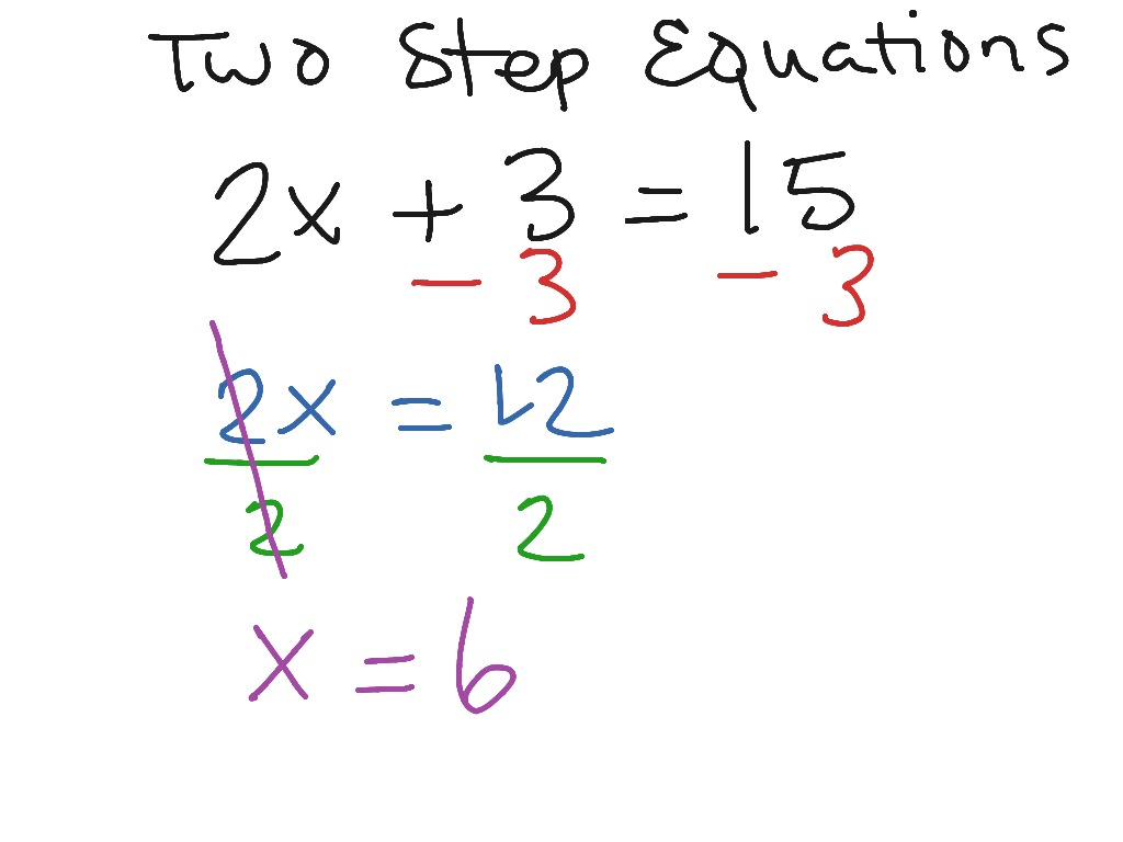 Two Step Equations 1