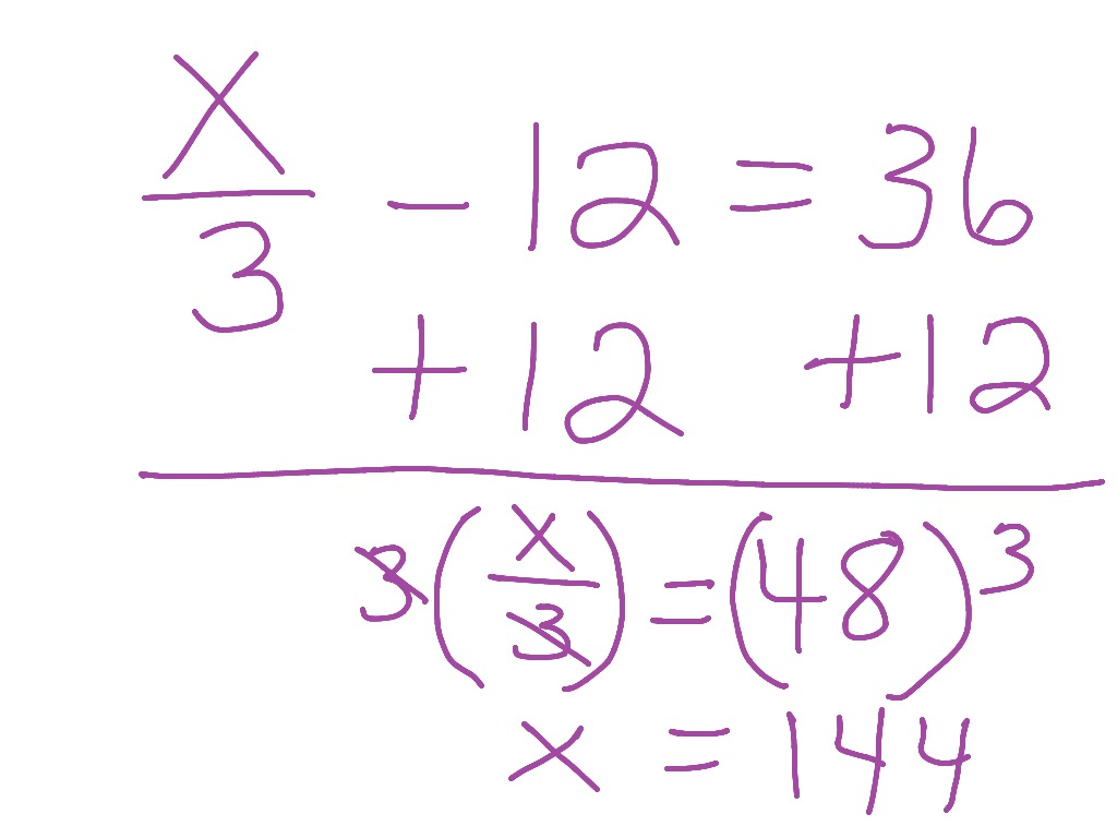 Solving A Two Step Equation