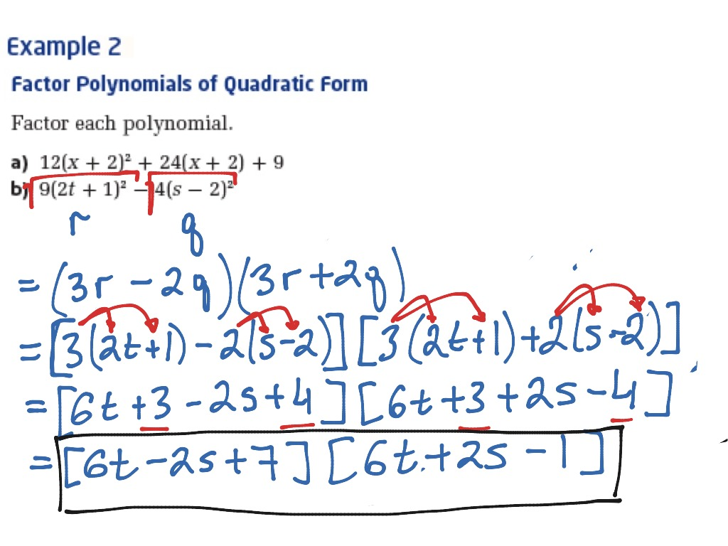 Example Of Quadratic Equation By Factoring