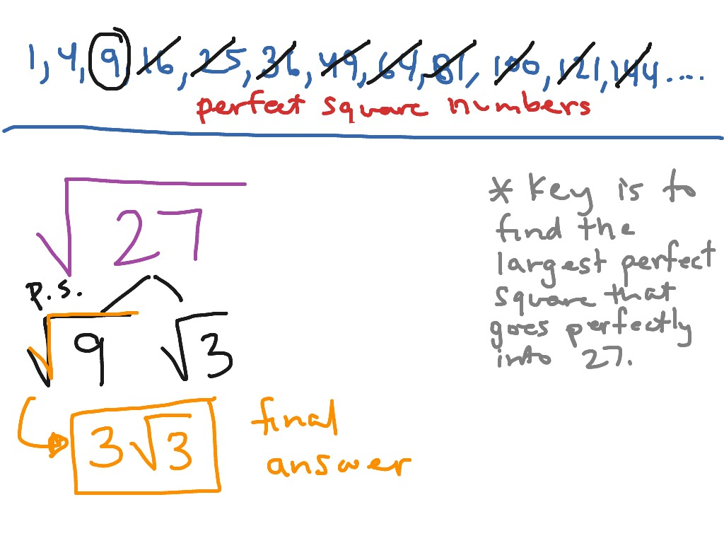 Simplifying Square Root Of 27