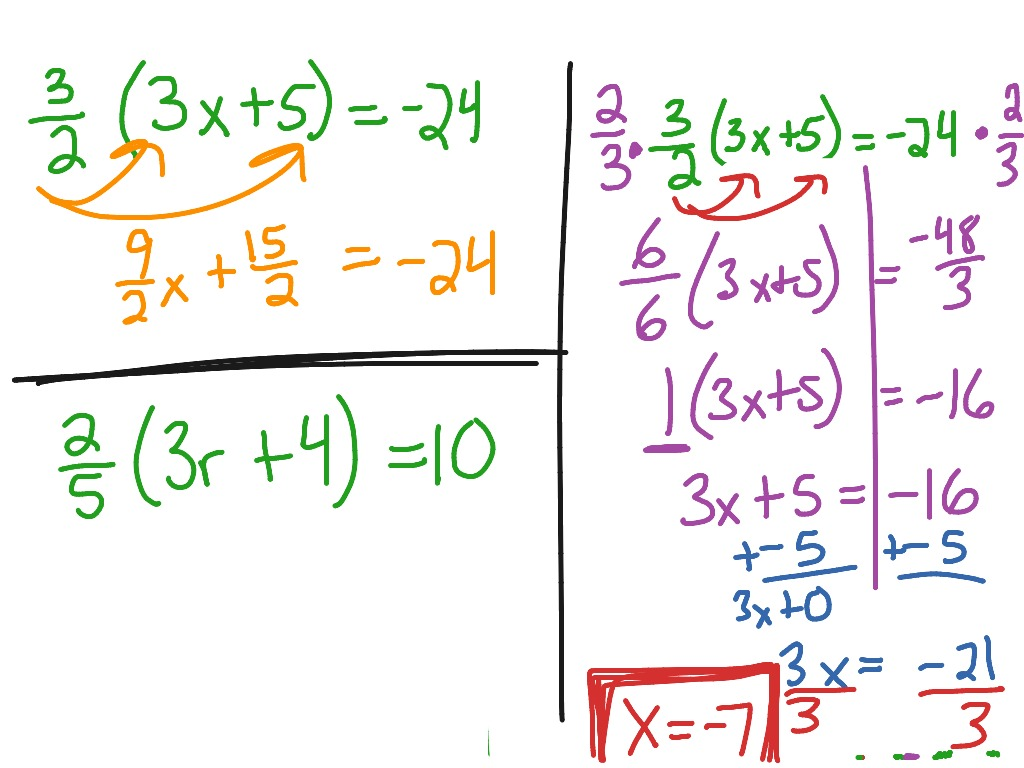 Multi Step Equations Examples