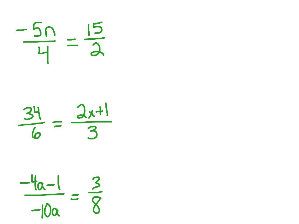 Cross Multiplying Proportions Worksheet