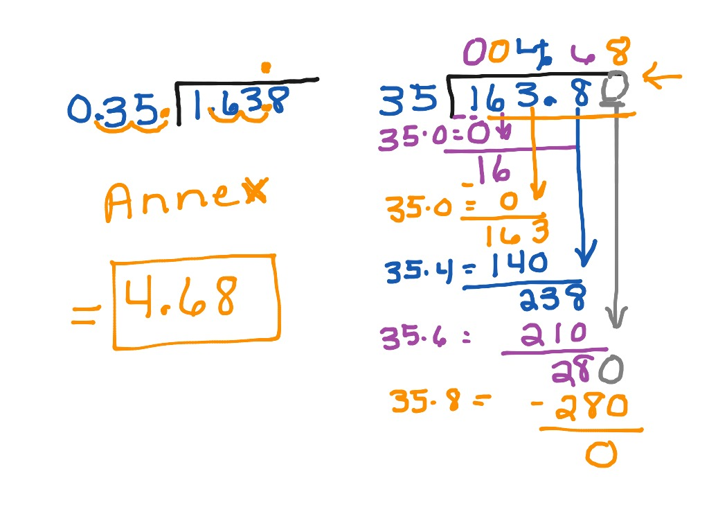 Dividing Decimals By Decimals Annexing Zeros