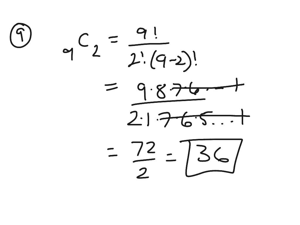Counting Permutations Combinations And Probability Test