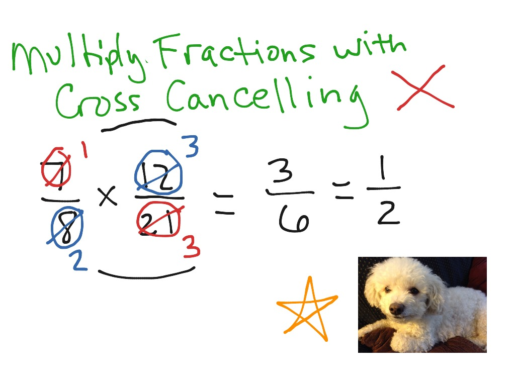 Multiplying Fractions With Cross Canceling Worksheet Answers