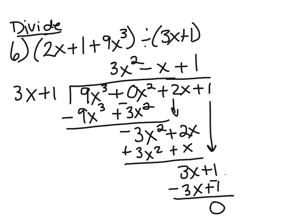 How To Divide Polynomials Using Long Division Step By Step