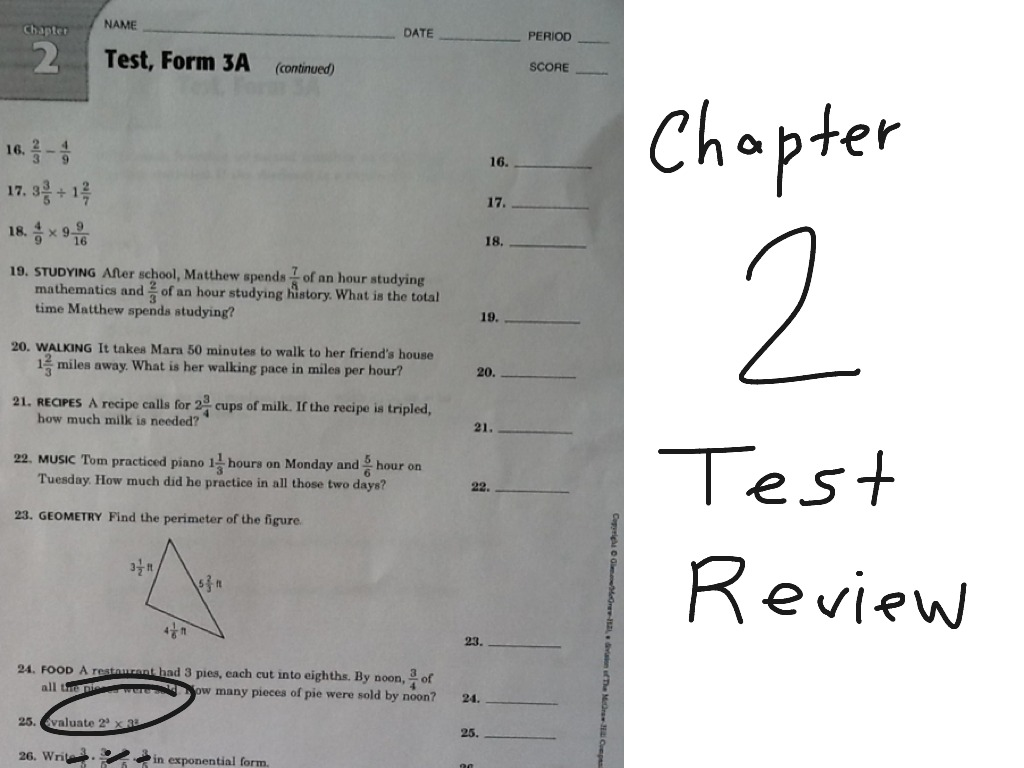 7th Grade Chapter 2 Review
