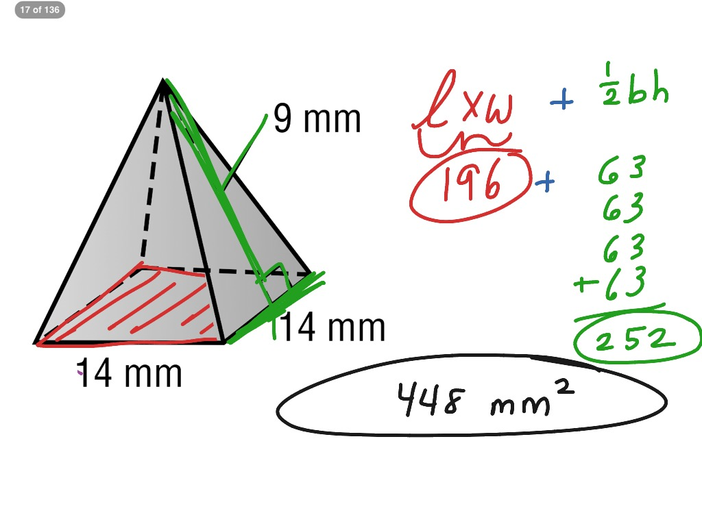 Surface Area Of A Square Pyramid