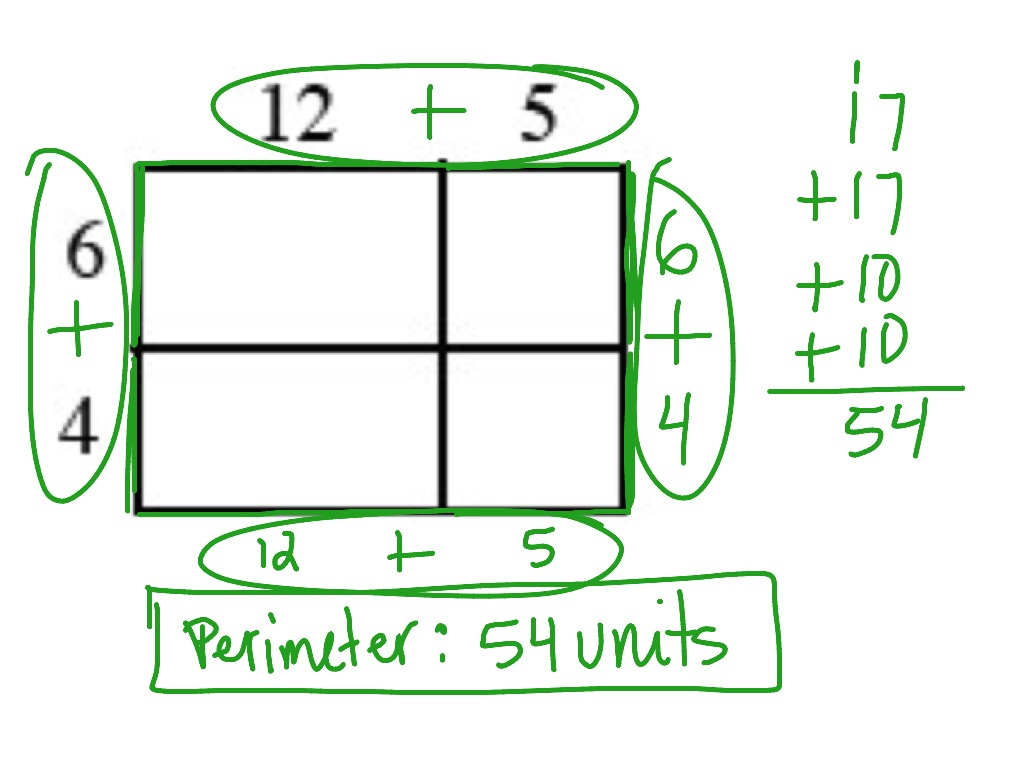 Alg 4 83 Calculating The Area And Perimeter Of A