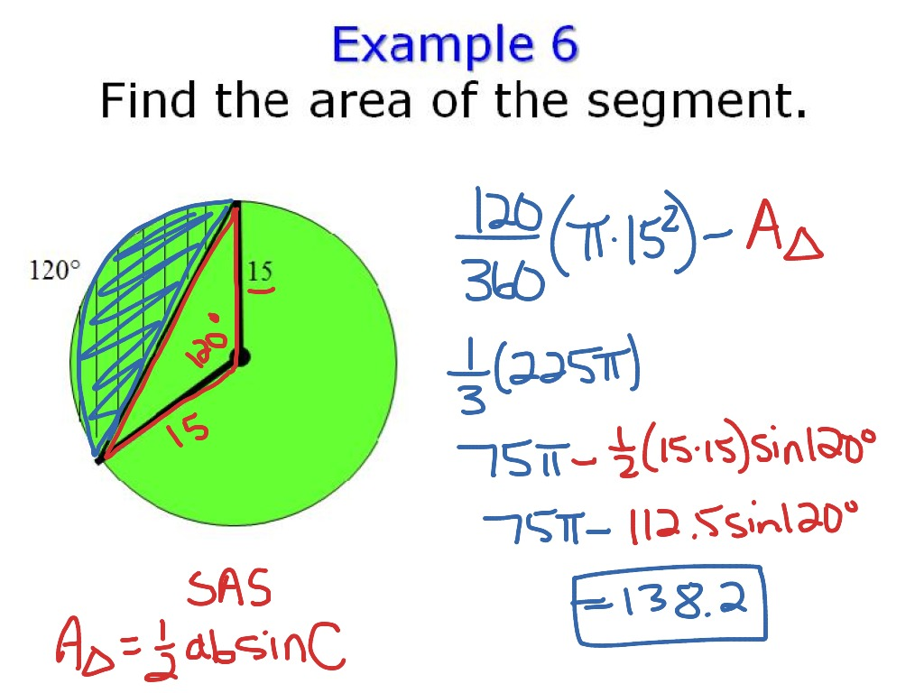 Arc Length Sector Amp Segment Area