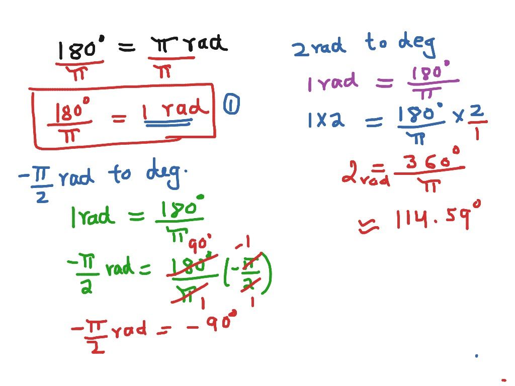 Example Converting From Radians To Degrees