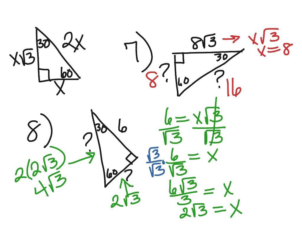 Special Right Triangle Examples