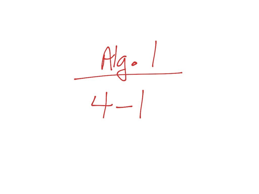 Alg 1