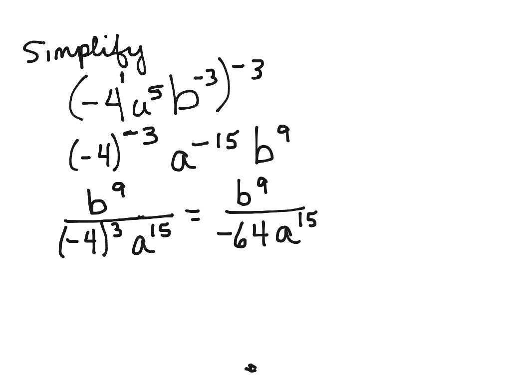 How To Simplify Expressions With Negative Rational Exponents