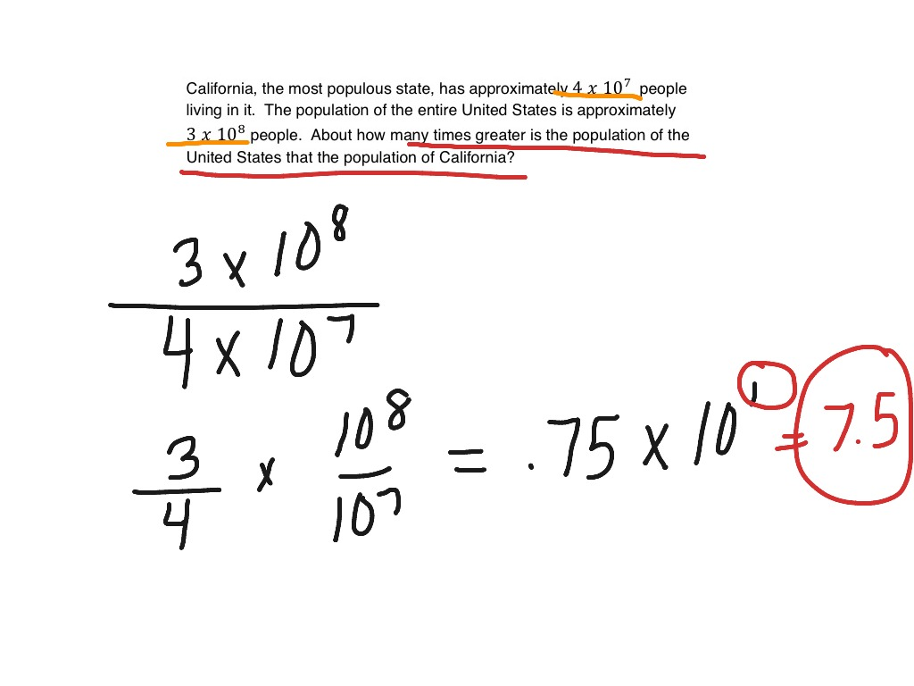 Scientific Notation Word Problems