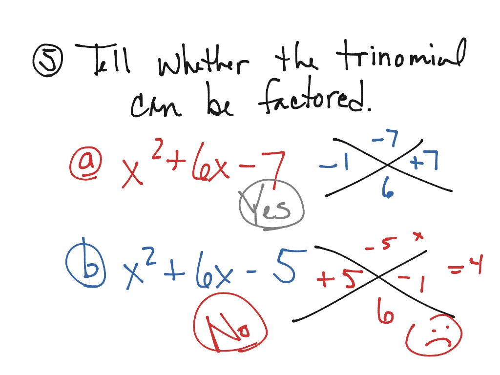 Algebra Worksheet Section 106 Factoring Polynomials Of The