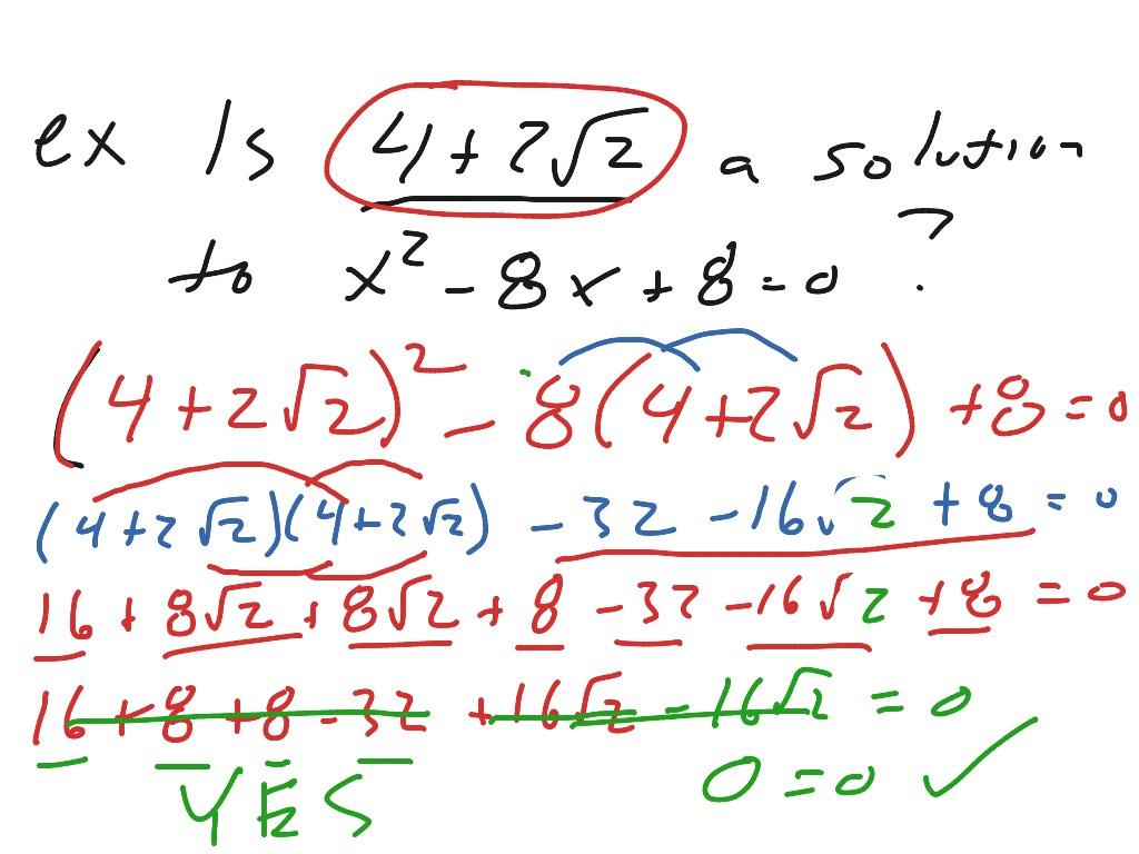 Algebra 1 12 2 Notes