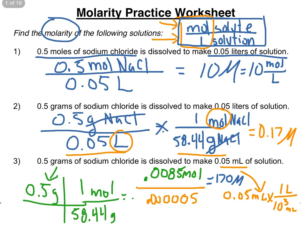 Worksheet Molarity Worksheet With Answers Grass Fedjp
