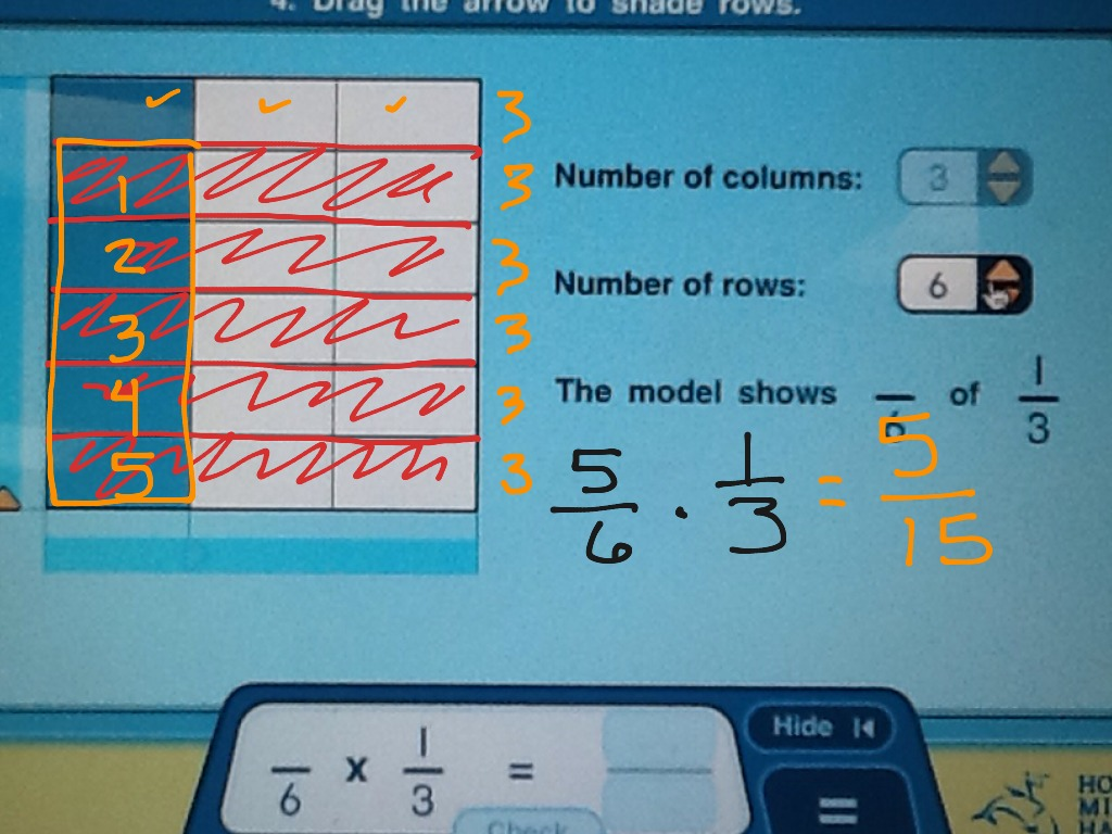 3 4 Use Area Model To Multiply Fractions 2