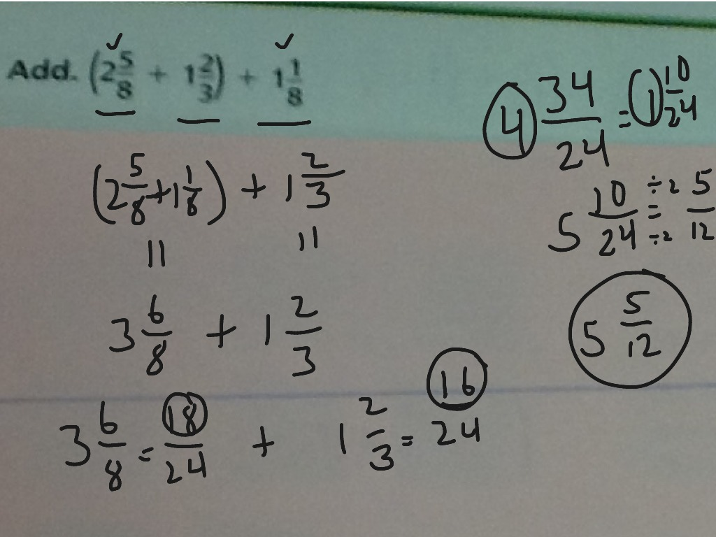 Commutative Property Of Addition Fractions