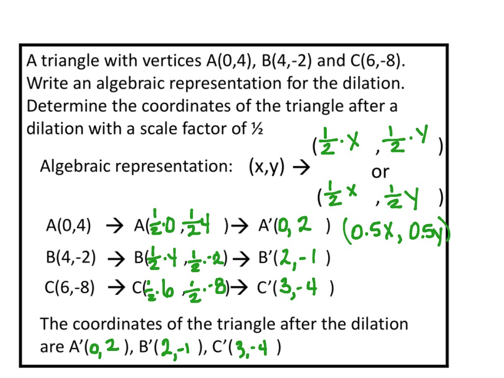 Printables Of Algebraic Representations Of Dilations